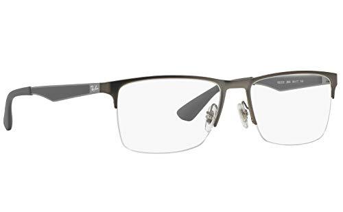 Ray-Ban RX6335 Unisex Metal Eyeglasses ( Matte Gunmetal Frame 2855 , 54)
