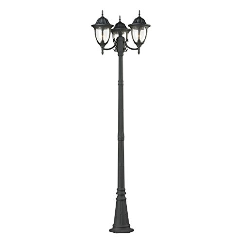 Lamp Three 26 - Cornerstone Lighting 7153EP/73 Elk Lighting Central Square 3 Light Outdoor Post Lamp, 26
