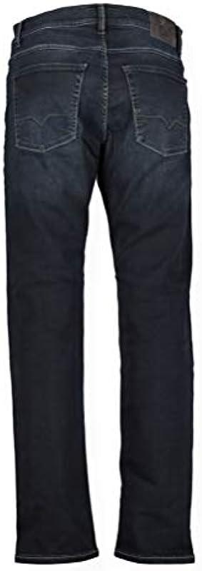OTTO KERN ciemnoniebieskie dżinsy Straight Fit model John granatowy, W32L32: Odzież