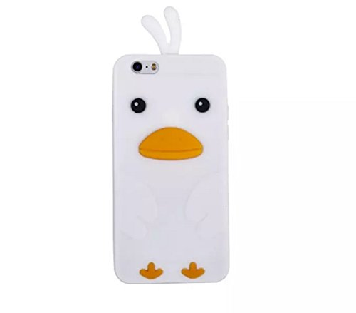 Price comparison product image iPhone 6/6S Plus Case,iPhone 6/6S Plus Silicone Duck Case,Goodaa Cute Lovely Cartoon Duck Cover Soft Silicone Rubber Gel Case For iPhone 6/6S Plus(White)