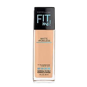 Maybelline Fit Me Matte + Poreless Liquid Foundation Makeup, Natural Beige, 1 fl; oz; Oil-Free Foundation