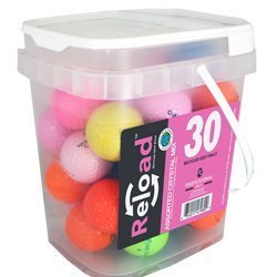Reload Recycled Golf Balls Crystal Golf Ball (30 Pack), Assorted Colors [並行輸入品] B071ZXJX5S