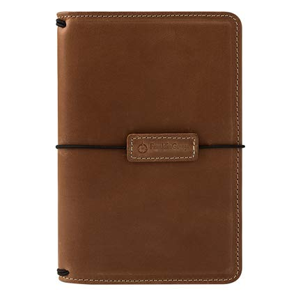 Compact Leather Elastic Travelers Cover - Tawny by Franklin Covey