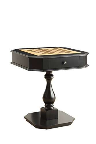 Acme Furniture Acme 82846 Bishop Game Table, Black, One ()