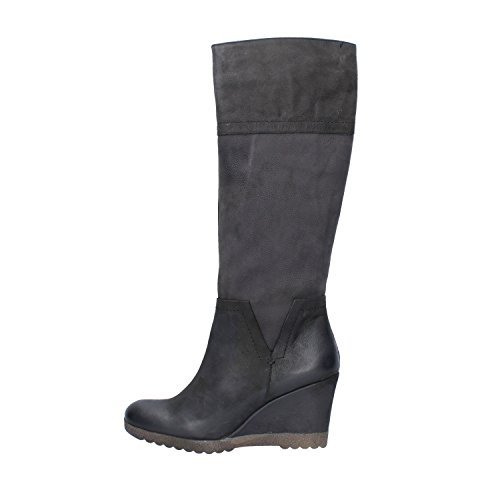 Zapatos mujer KEYS Botas negro cuero AJ119