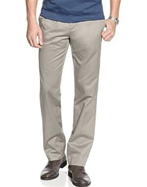 CALVIN KLEIN GRAY MACHINE WASHABLE 100% cotton STRAIGHT FIT DRESS PANTS MEN
