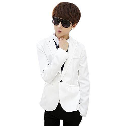 Manches Costumes Elégant Affaires Blazer Blousons Blanc Slim Fit Hiver Mariage Veste Kindoyo Hommes Longues q1EHKIw