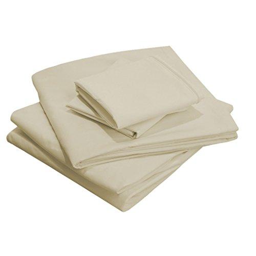 Scalabedding 58,4 cm Poche profonde 100% coton égypcravaten 400 fils Full-xxl Taille Argent Massif de lit