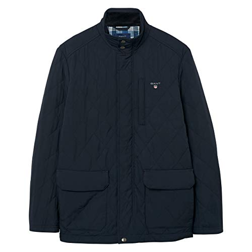 Uomo 405 Quilted Giacca Blu Trapuntata 7001540 Navy The Blue Jacket City Gant OfHqxg6