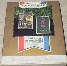 Hallmark Keepsake Ornament ; The Olympic Spirit Collection ; Athens 1896 & Atlanta - Athens Atlanta To