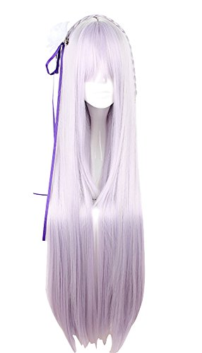 Mtxc Re:Zero Starting Life in Another World Cosplay Emilia Wig Purple