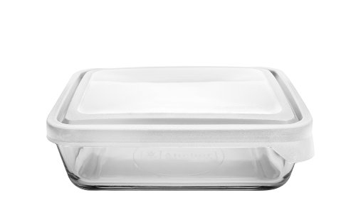 Anchor Hocking 6-Cup Rectangular Food Storage Container with White TrueSeal Airtight Lid