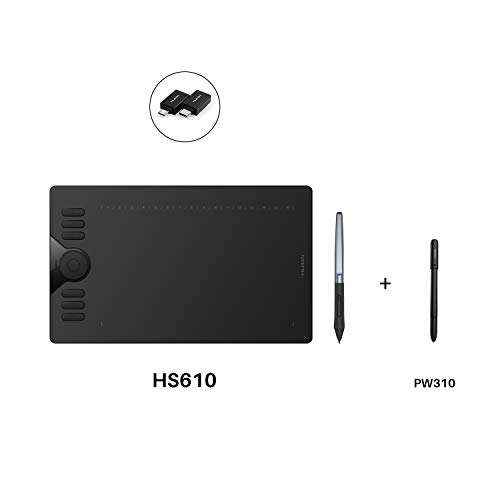 Huion HS610 Graphics Drawing Tablet Android Devices Supported with PW100 and Huion Scribo PW310