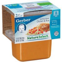 Gerber 2nd Foods Chicken Rice Baby Food, 7 Ounce -- 8 per ca