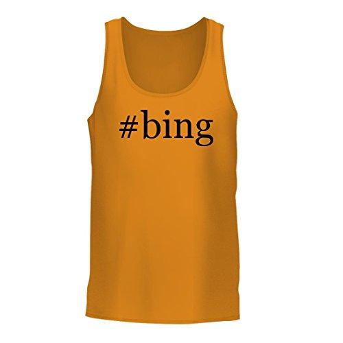 Bing   A Nice Hashtag Mens Tank Top  Gold  X Large