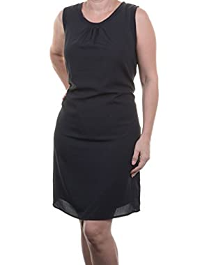 Womens S/L Rib Trim Dress