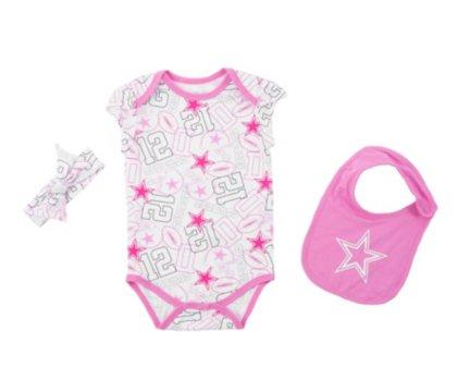 Dallas Cowboys Infant Sissy Bib Bodysuit Set]()