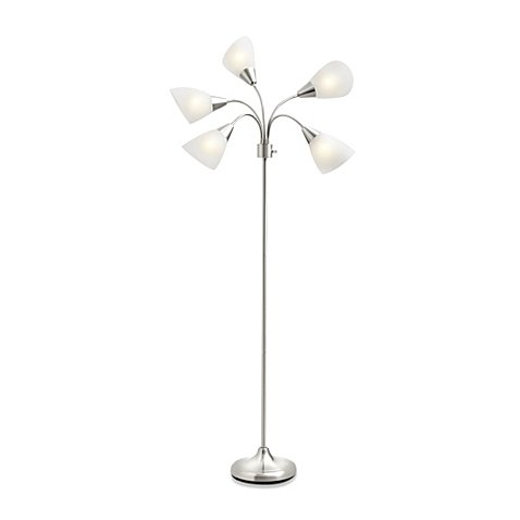 5-Light Floor Lamp with CFL Bulbs with 4-way switch