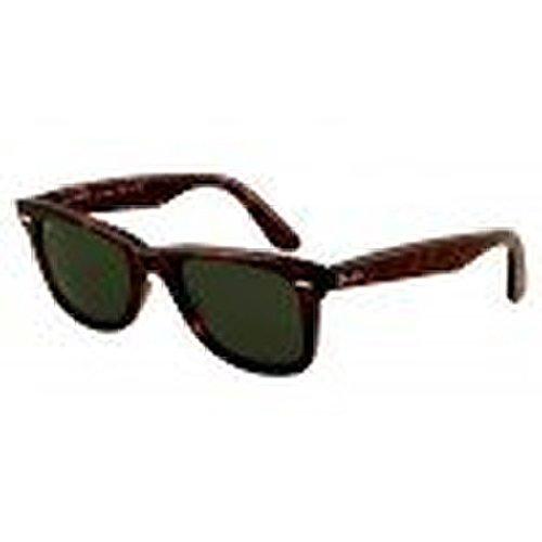 Ray-Ban Wayfarer RB2140 Sunglasses Tortoise / Crystal Green 54mm & Cleaning Kit - Wayfarer Ban Ray 54mm Tortoise