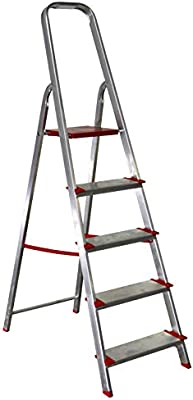 Homelux 990155 Escalera Domestica Peld.12 cm, 4 Peldaños, 4.2 kg ...