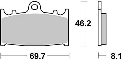 GSX650F 08 09 10 11 12 13 14 15 16 17 18 SBS Performance Front Fast Road Sinter Sintered Brake Pads Set Genuine OE Quality 631HS Suzuki GSX 650 F