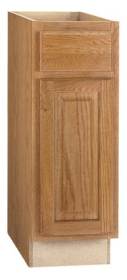 CONTINENTAL CABINETS KITCHEN CABINETS 2478208 Rsi Home Products Hamilton Base Cabinet, Fully Assembled, Raised Panel, Oak, 12X34-1/2X24