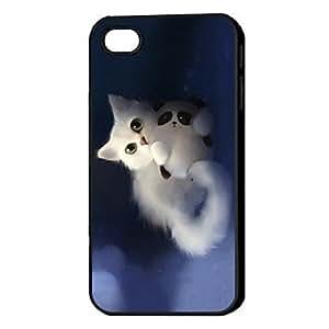 YXF 3D KIKI Pattern Hard Case for iPhone 4/4S , Matt black