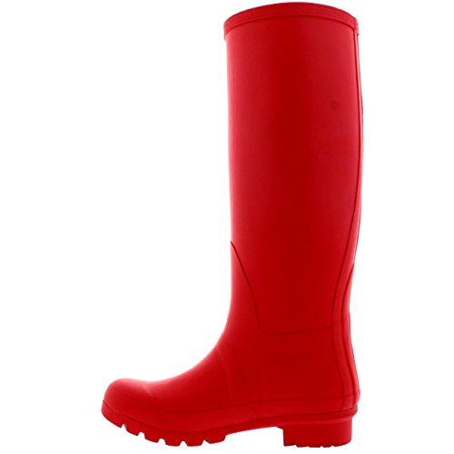 Womens Original hohe Schnee Winter wasserdichte Regen Gummistiefel Gummistiefel rot