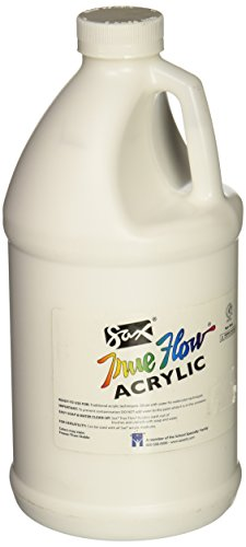 - Sax True Flow Heavy Body Acrylic Paint, 1/2 Gallon, Titanium White