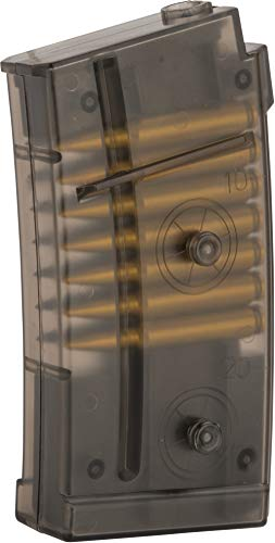 Evike Double Eagle Translucent 40 Round Magazine with Dummy Bullets for M82 LPAEG Airsoft Gun ()