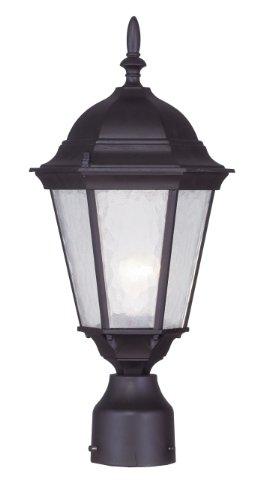 Livex Lighting 7558-07 Hamilton 1 Light Outdoor Post Head, Bronze (Bronze Post Top)
