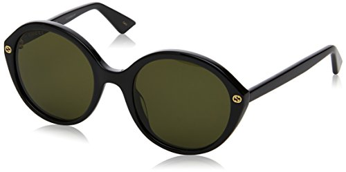 Gucci Women's GG0023S GG/0023/S 001 Black/Gold Fashion Sunglasses - Gucci Buy Online