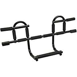 Yes4All Doorway Pull Up Bar/Chin Up Bar Over The Door for Home Gym, Enhance Upper Body Strength – Pull Up Bar on The Door – Support to 300 lbs (CXP New 1-Piece Bar)