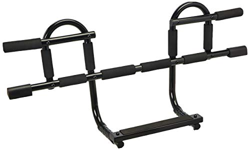 (Yes4All Doorway Pull Up Bar/Chin Up Bar Over The Door for Home Gym, Enhance Upper Body Strength - Pull Up Bar on The Door - Support to 300 lbs (CXP New 1-Piece Bar))