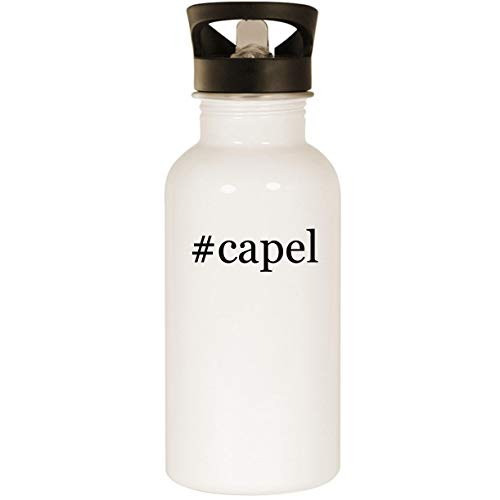 #capel - Stainless Steel Hashtag 20oz Road Ready Water Bottle, White