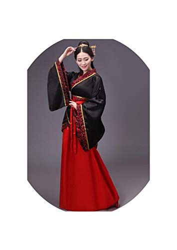 Dress Chinese Traditional Costumes Tang Suit Performance Hanfu,Color7,S(150-158Cm) ()