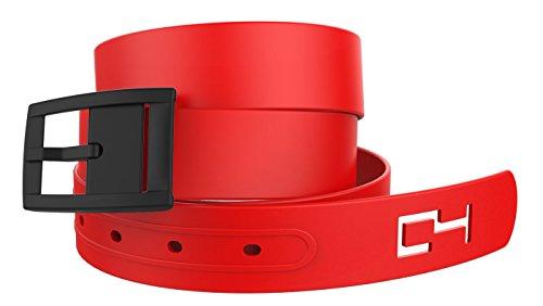 C4 Classic Belt: Red Strap / Black - Red Black Cool Belt Buckle