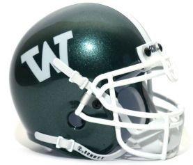 Schutt NCAA Mini Authentic XP Football Helmet, Wagner Seahawks