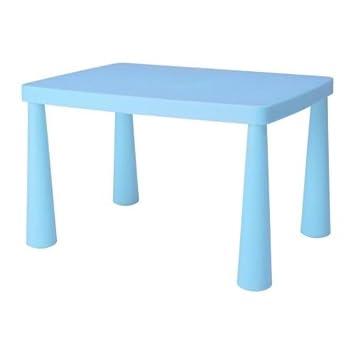 Ikea Mammut Kindertisch In Blau Amazonde Küche Haushalt