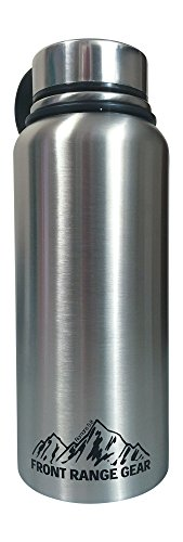 Large 30oz. Double Wall Stainless Steel Vacuum Insulated Wide Mouth Hot or Cold Liquid Thermos Bottle by Front Range Gear