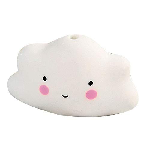 DishyKooker 1 Stück Baby-Bade-Spielzeug, Badespielzeug, Wassersprühwerkzeug, Wolken, Duschen, Schwimmspielzeug, Weiß