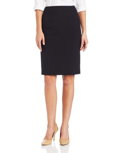 Calvin Klein Women's Straight Fit Suit Skirt, Navy, 6 (Calvin Klein Womens Suit)