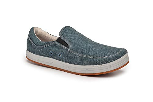 Astral Hemp Baker Everyday Slip On Shoe for Casual Use and Travel, Denim Navy, Men's 10 M US, Women's 11 M US