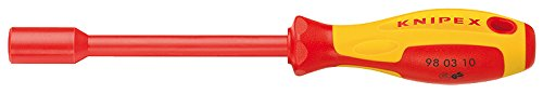 Knipex 98 03 06 Nut Driver with Screwdriver Handle 232 mm, Multi-Colour