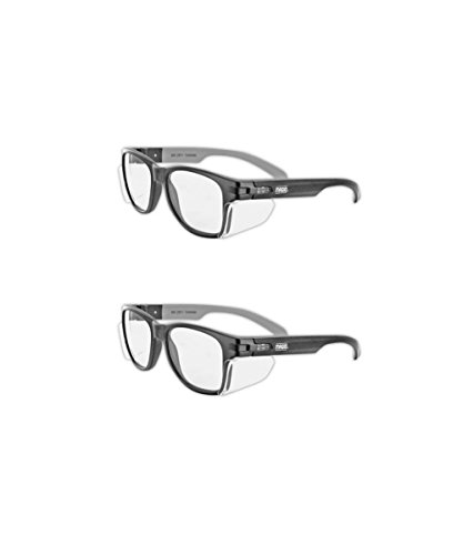 Magid Classic Black Safety Glasses | Iconic Design Series Y50BKAFC with Side Shields and Cloth Case - UV Protection, Anti Fog Coating, Clear Lens (2 Pair) by Magid Glove & Safety
