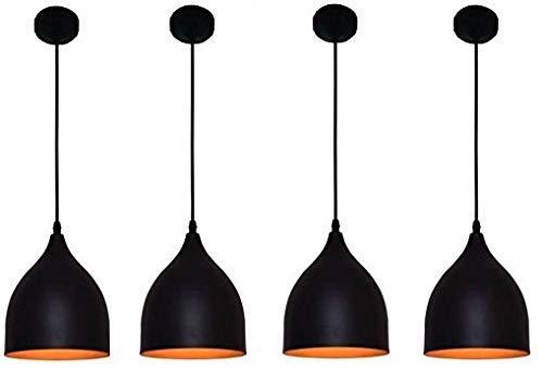 LUMINA E26/E27 Pendant Ceiling Hanging Lights LED Metal Lamp (Black, 23 x 17 x 17 Cm) – Set of 4