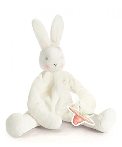 Bunnies by the Bay Silly Buddy Bunny, White with Pacifier Holder by Bunnies by the Bay (Image #4)