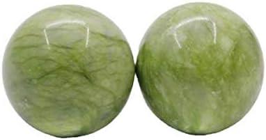 Ashy-wlj フィットネスボール、フィットネスハンドボール、中高年の健康ハンドボール、健康ボール実践ハンドボールストーンマッサージ (色 : 緑, サイズ : 5.0cm)