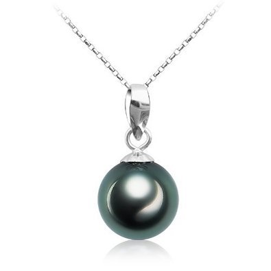 Tahitian black pearl necklace 9 10mm 925 sterling silver gifts for tahitian black pearl necklace 9 10mm 925 sterling silver gifts for women viki lynn aloadofball Image collections