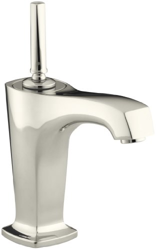 Polished Nickel Sinks - KOHLER K-16230-4-SN Margaux Single Control Lavatory Faucet, Vibrant Polished Nickel
